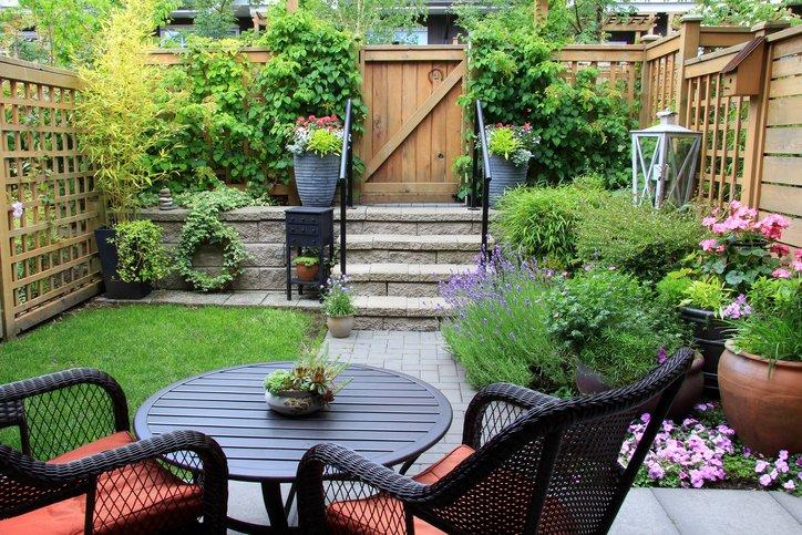 Lawn care in small landscape